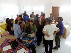 Participantes del proyecto durante una actividad.