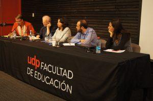 Panel con los investigadores del CDC Paula Guerra y Jorge Soto, los expertos internacionales tony Booth y Gunther Dietz y la moderadora, Natalia Salas.