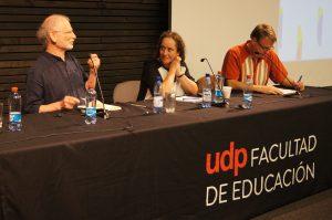 Cecilia Assael junto a Tony Booth y Gunther Dietz.